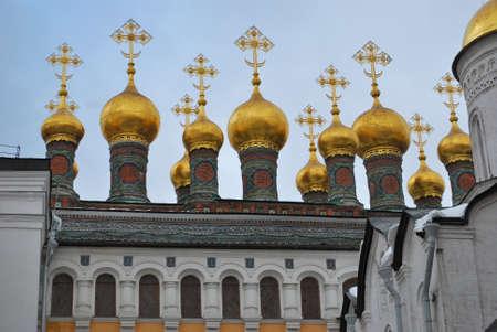 the kremlin: Kremlin golden domes, Moscow