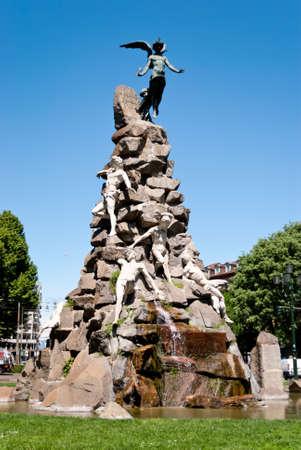 Piazza Statuto, Fontana del Frejus, Torino, Italy Stock Photo - 13692020