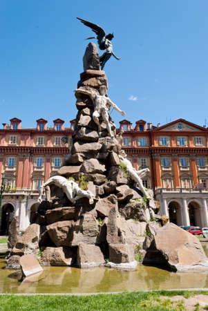 Piazza Statuto, Fontana del Frejus, Torino, Italy Stock Photo - 13692018