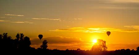 Coucher de soleil sur Hunter Valley, NSW, Australie