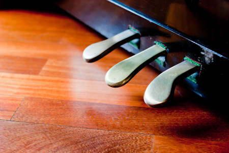 Piano pedals detail