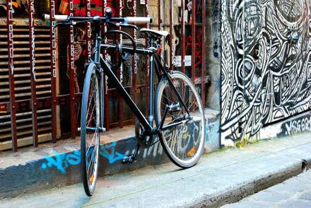 Bike and urban graffiti Stock Photo - 13761107