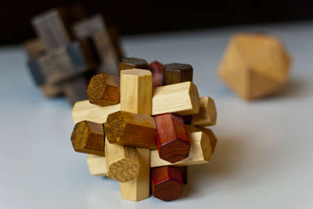 Logical tricky wooden toys