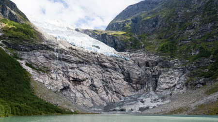 Boyabreen  Boyabreen  Glacier, Norway Stock Photo