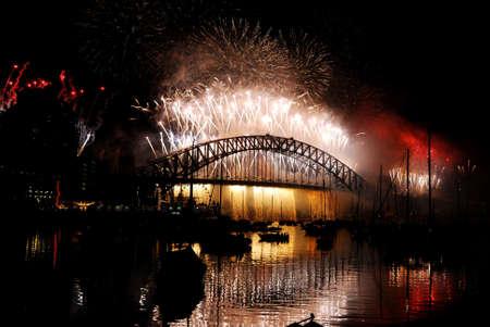 New Years Eve in Sydney - Fireworks on Harbour Bridge photo