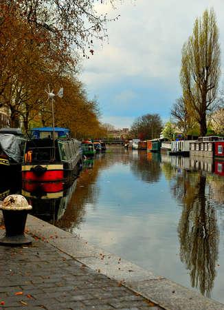 Londres, Regents Canal - Petite Venise Banque d'images