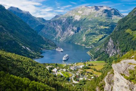 Le fjord de Geiranger, Norv�ge
