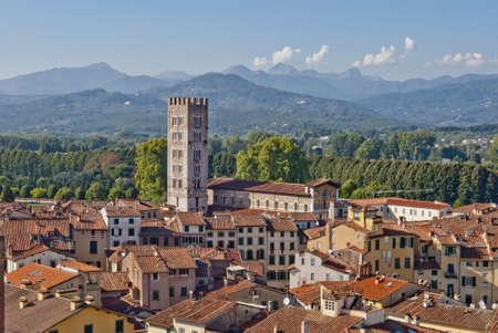 Lucca vue panoramique, Toscane, Italie Banque d'images