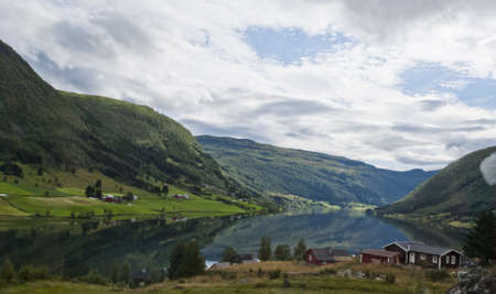 Stunning Norwegian mountain landscape photo
