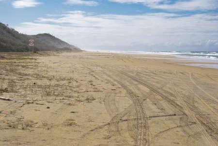 fraser island: Fraser Island, Australia, motorway on the sand