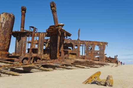 Maheno shipwreck, Fraser Island, Australia photo