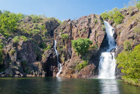 waterfalls waterfall: Wangi Falls, Litchfield National Park, Australia