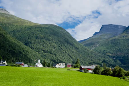 Norway, beautiful mountain landscape photo