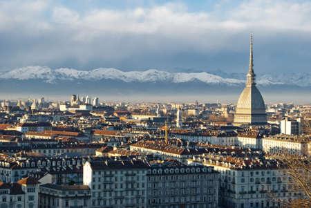 Torino (Turin) vue panoramique, l'Italie