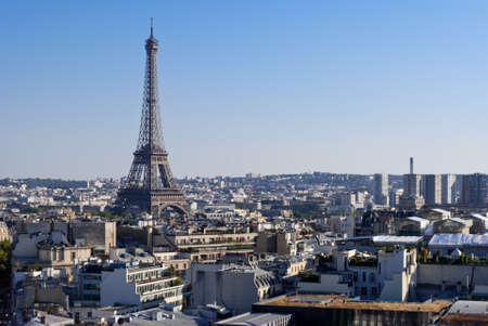 triumphal: Eiffel Tower, Paris, panoramic view from Triumphal Arch