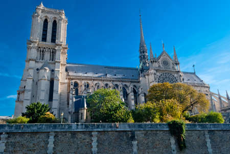 Notre Dame, Paris, view from Seine river Stock Photo - 15176239