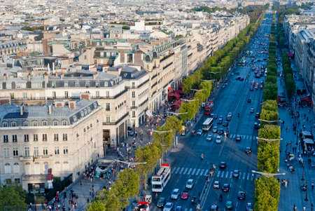 champs elysees: Paris, Champs Elysees  Champs-es , view from Triumphal Arch