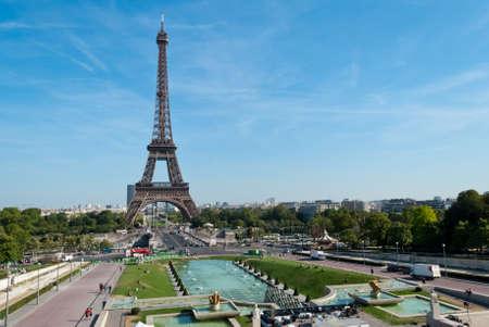 panoramic view: Eiffel Tower, Paris, view from Trocadero
