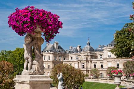 Luxembourg gardens ornamental statue, Paris Stock Photo