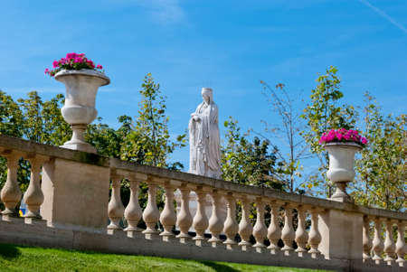 Luxembourg gardens ornamental statue, Paris Stock Photo - 15501430