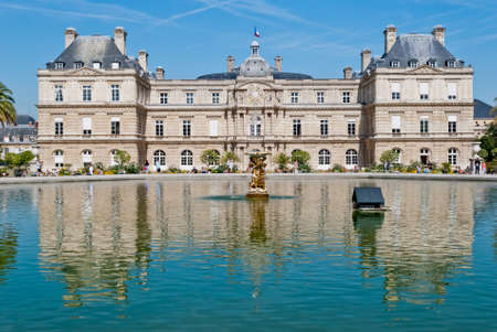 luxembourg: Luxembourg Palace frontal view, Paris Editorial