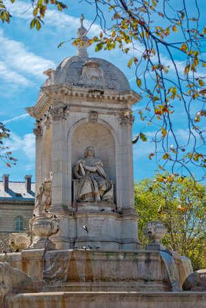 hemingway: St. Sulpice square fountain, Paris