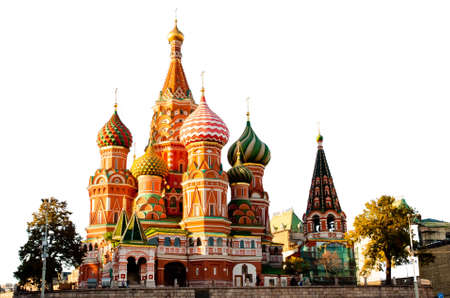 red square moscow: St. Basil Cathedral, Red Square, Moscow Stock Photo