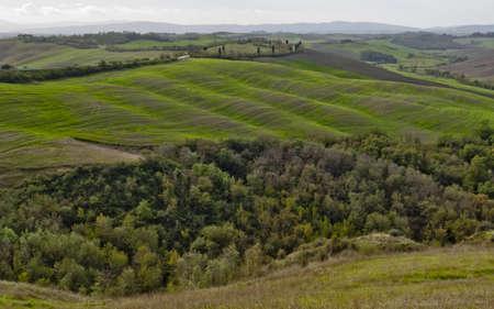 Crete senesi, Tuscany landscape, Italy photo