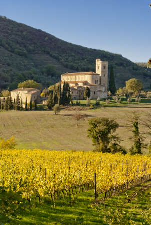 sant'antimo: Abbey of SantAntimo, Tuscany, Italy