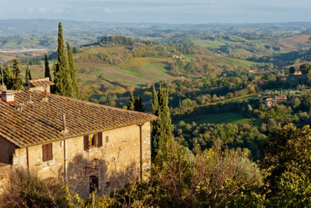 Panorama from San Gimignano, Tuscany photo