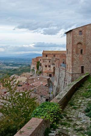 montepulciano: Montepulciano medieval village, Tuscany, Italy