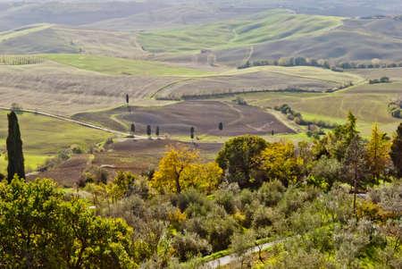 montepulciano: Tuscan landscape near Montepulciano, Tuscany Stock Photo