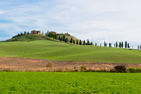 Tuscany landscape near Siena, creste senesi