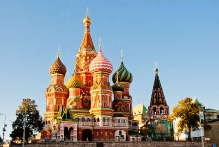 kremlin: St. Basil Cathedral, Red Square, Moscow Editorial