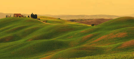 Sunset on Tuscany landscape photo