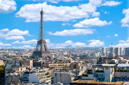 Paris, panorama avec la Tour Eiffel Banque d'images