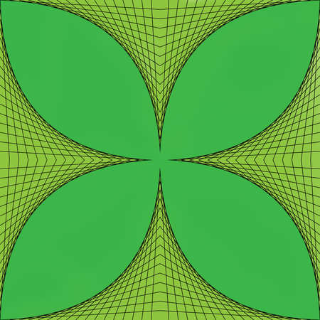 Geometric four-leaved clover Stock Photo - 17415594