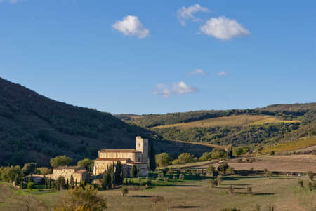 pictoresque: Abbey of SantAntimo, Tuscany, Italy