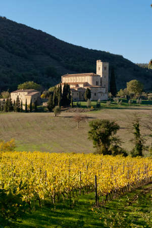 abbazia: Abbey of SantAntimo, Tuscany, Italy