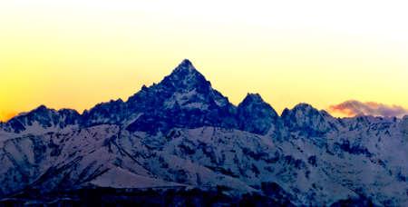 Mont Viso, panorama de Turin Banque d'images