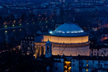 Torino, Gran Madre di Dio Church by night photo