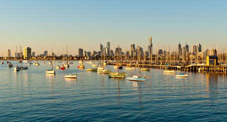 Melbourne horizon de St Kilda, Victoria, Australie