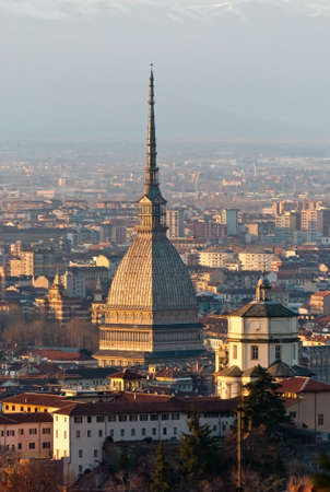 Torino (Turin), panorama with Cappuccini and Mole photo