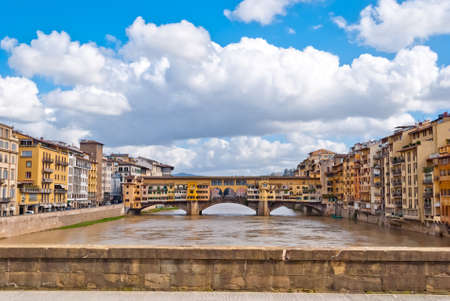 Florence, panorama with Old Bridge photo