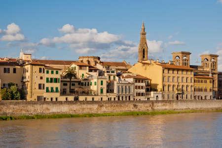 arno: Florence, buildings along Arno river