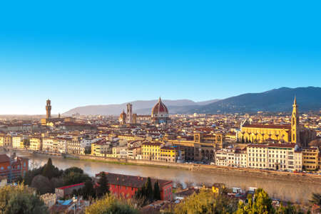 Florence panoramic view, Tuscany, Italy  photo