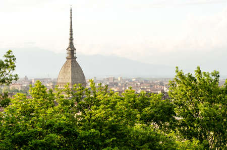 Turin  Torino , panoramic view with Mole Antonelliana photo