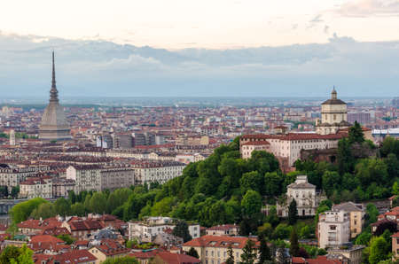 Torino (Turin), panorama with Mole Antonelliana and Cappuccini photo