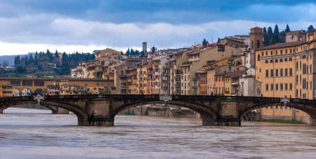 river arno: Florence, panorama with river Arno