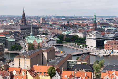 Copenhagen, Denmark, panoramic view photo